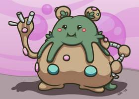 Cute Ugly Pokemon #562 - Garbodor by Klecktacular
