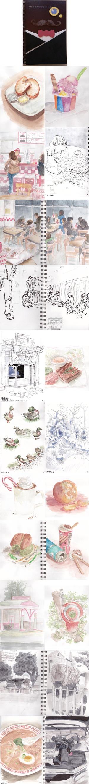 Winter (2012-2013) Sketchbook stuff by Klecktacular