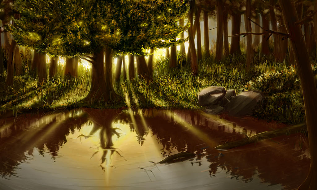 Classwork - Forest 2 by Klecktacular