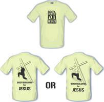 bodybuilding for JESUS t-shirt