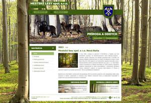 Mestske lesy Nova Bana webdesign