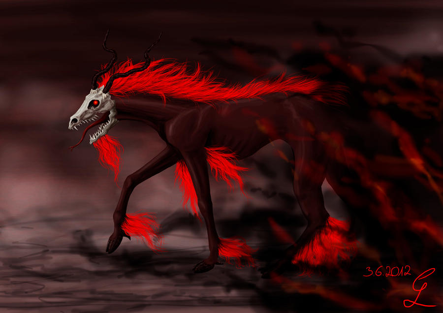 The Black Wolf With Crimson Eyes  Gods and Monsters