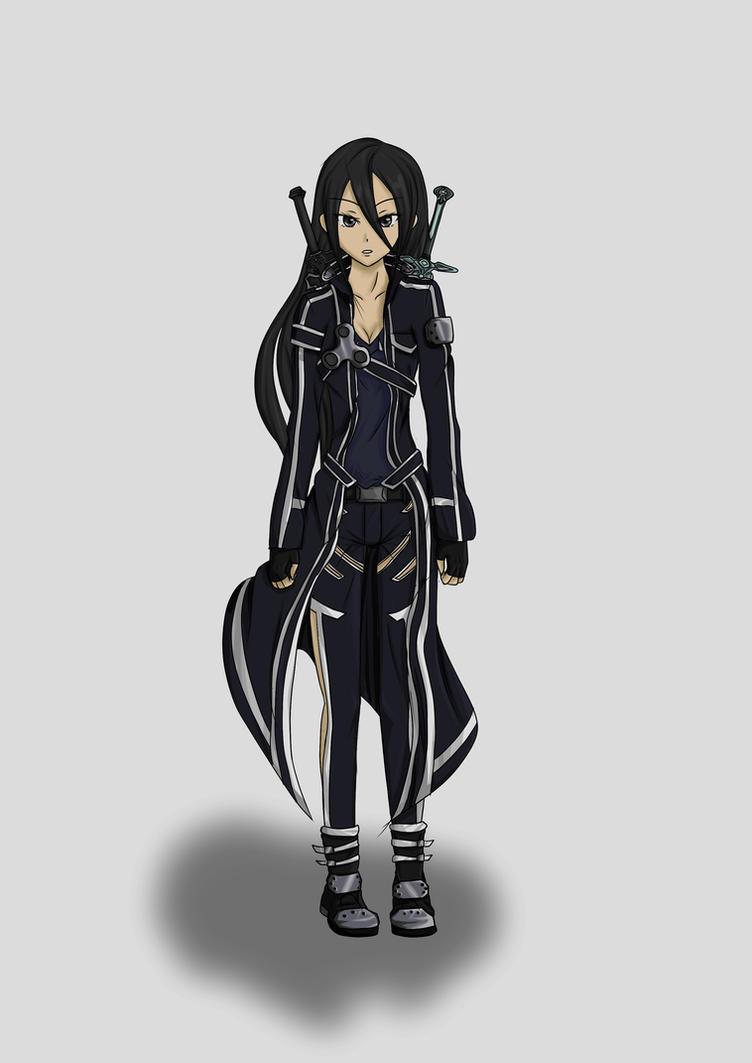 Midori wearing a black fishnet body suit 8
