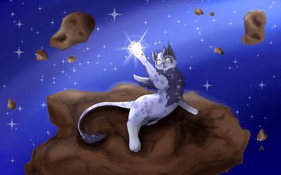 Playfull Galaxian Feline