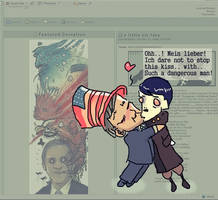 The Hitler n Bush kiss by Fealasy