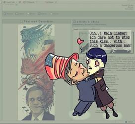 The Hitler n Bush kiss
