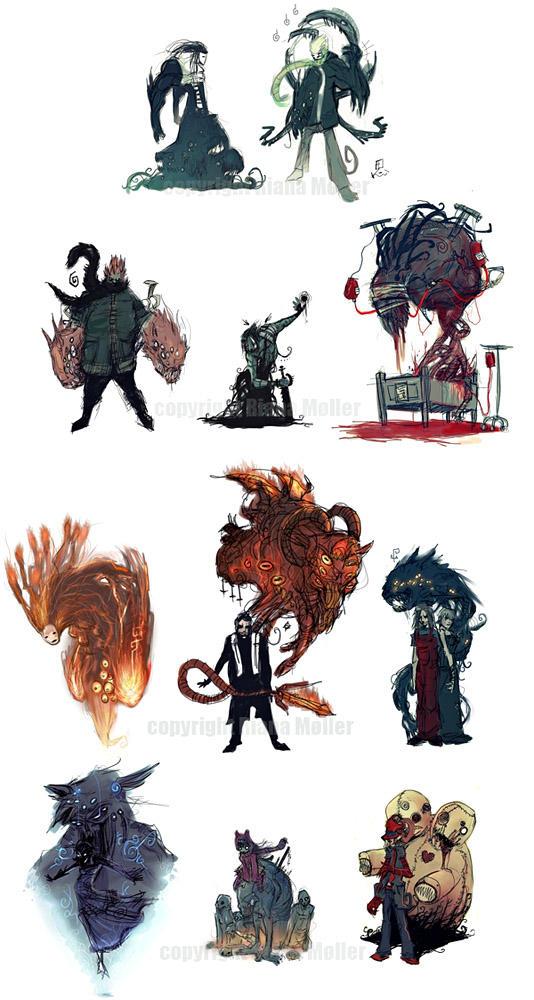 Phobia Main Characters lv4-5 by Fealasy