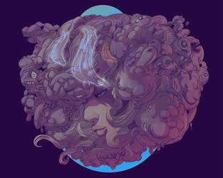 Clouded (aka little monsters on my head) by Fealasy