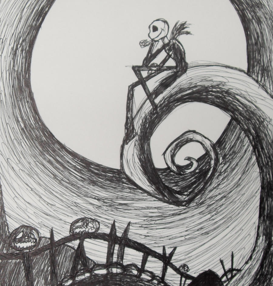 nightmare before christmas by jenieva fan art traditional art drawings ...
