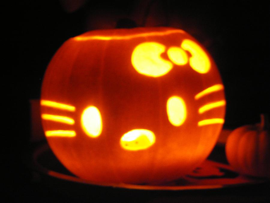 Hello kitty pumpkin by sleepwalker on deviantart