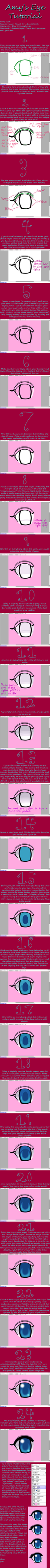 Easy Anime Eye Tutorial for Paint Tool SAI by chaosisters147