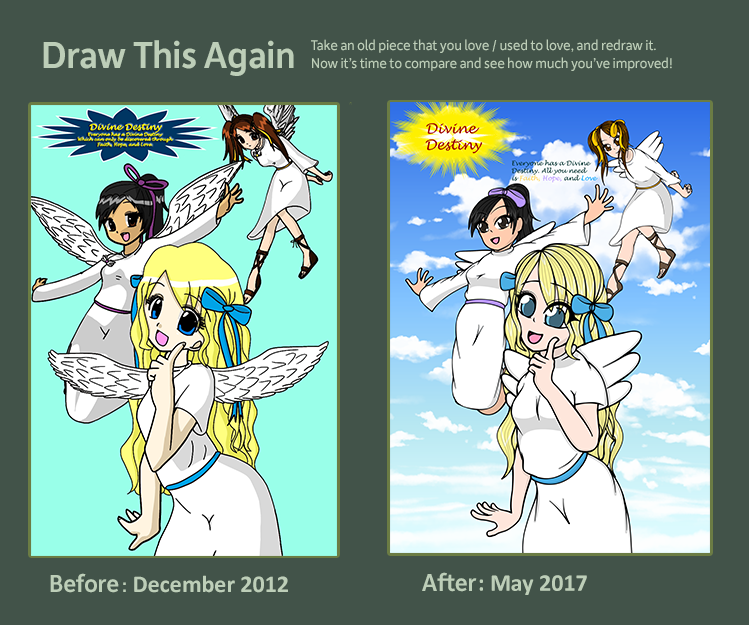Draw this Again: Divine Destiny Cover by chaosisters147