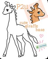 P2U - cute giraffe base! 60 pts by lilybramble