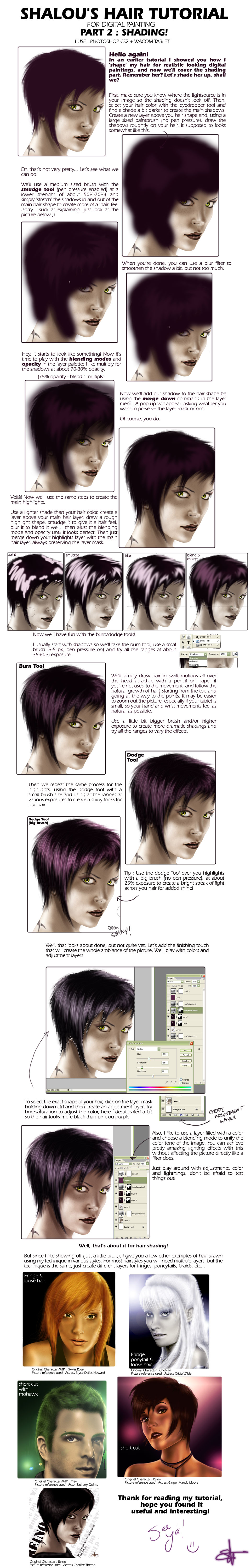 Hair Shading Tutorial by Shlapocalypse