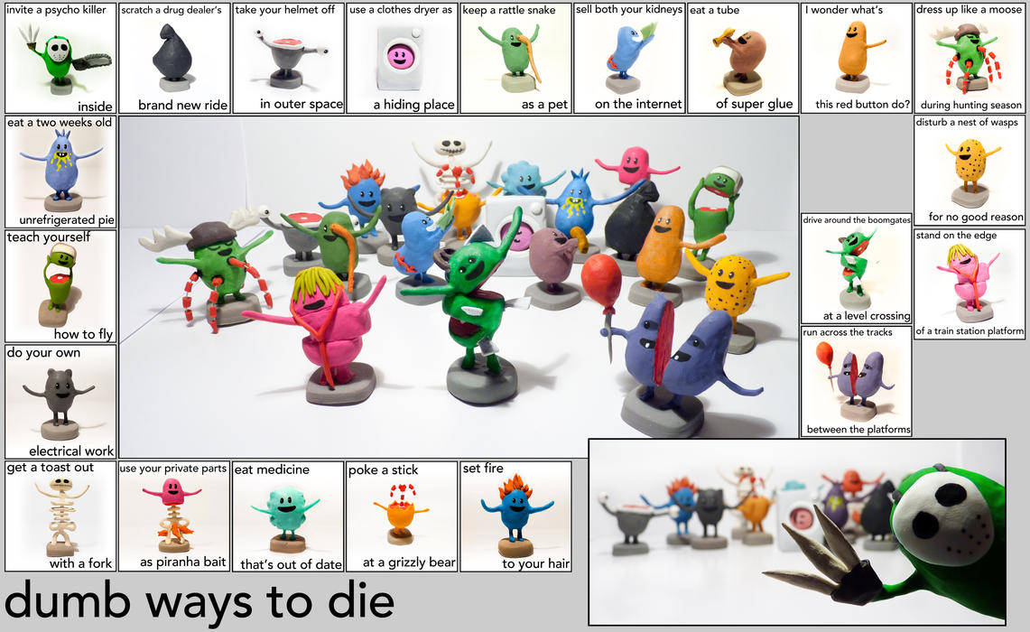 Dumb ways to die : The sculpey project by Shlapocalypse on DeviantArt