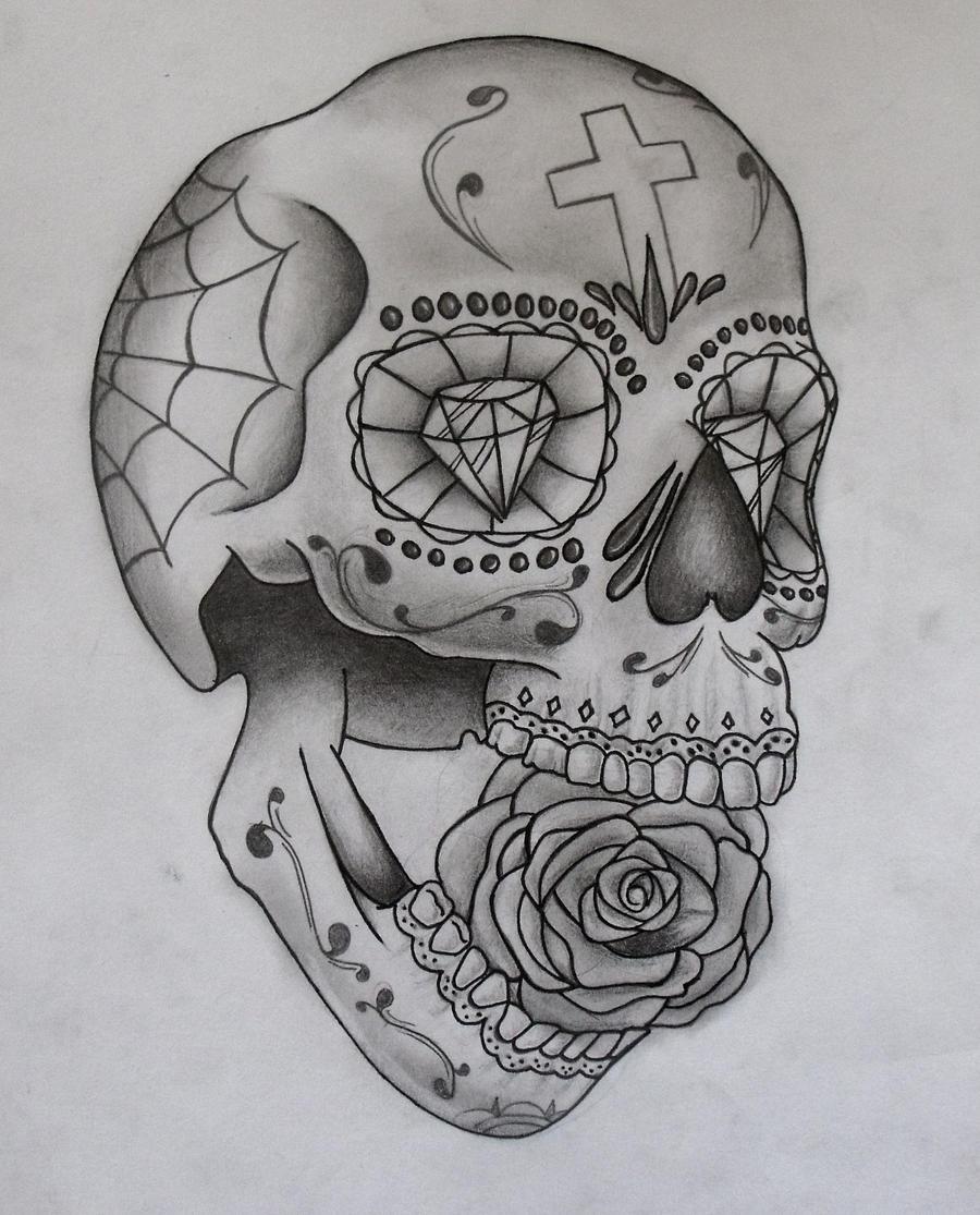 sugar skull by ifinch on deviantart. Black Bedroom Furniture Sets. Home Design Ideas