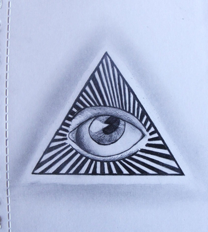 Illuminati Triangle Eye Drawing Illuminati eye