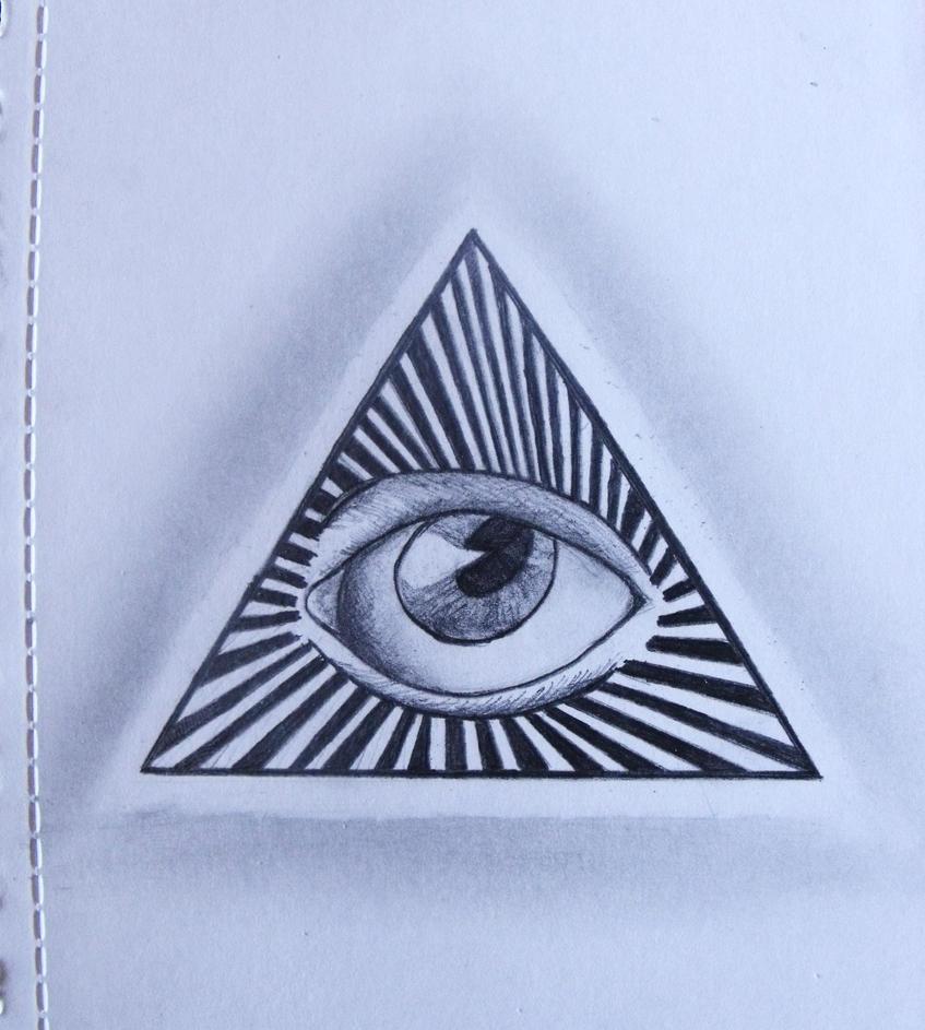 The gallery for --> Illuminati Pyramid Eye Drawing
