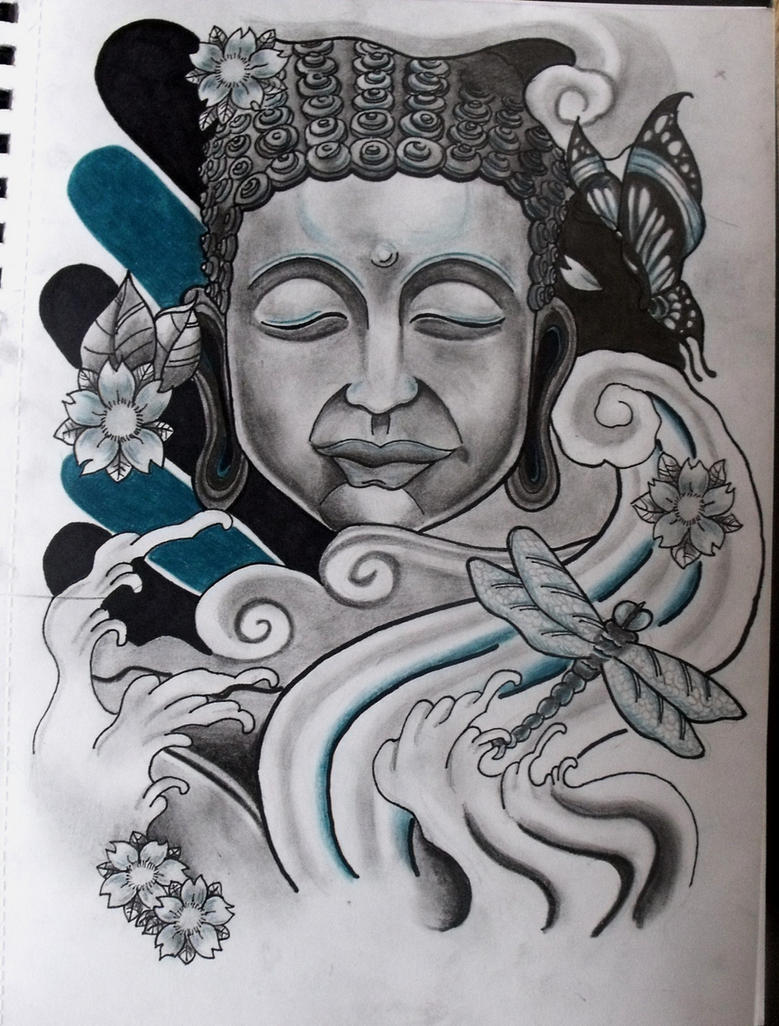 buddha tattoo design by ifinch on deviantart. Black Bedroom Furniture Sets. Home Design Ideas