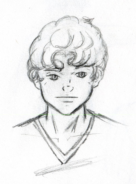 How To Draw Curly Hair Boy