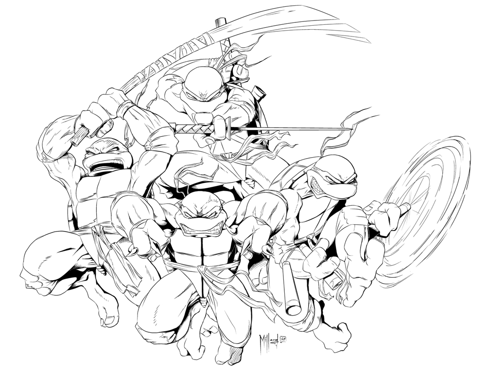 Line Art Ninja Turtles : Teenage mutant ninja turtles by therealmillard on deviantart