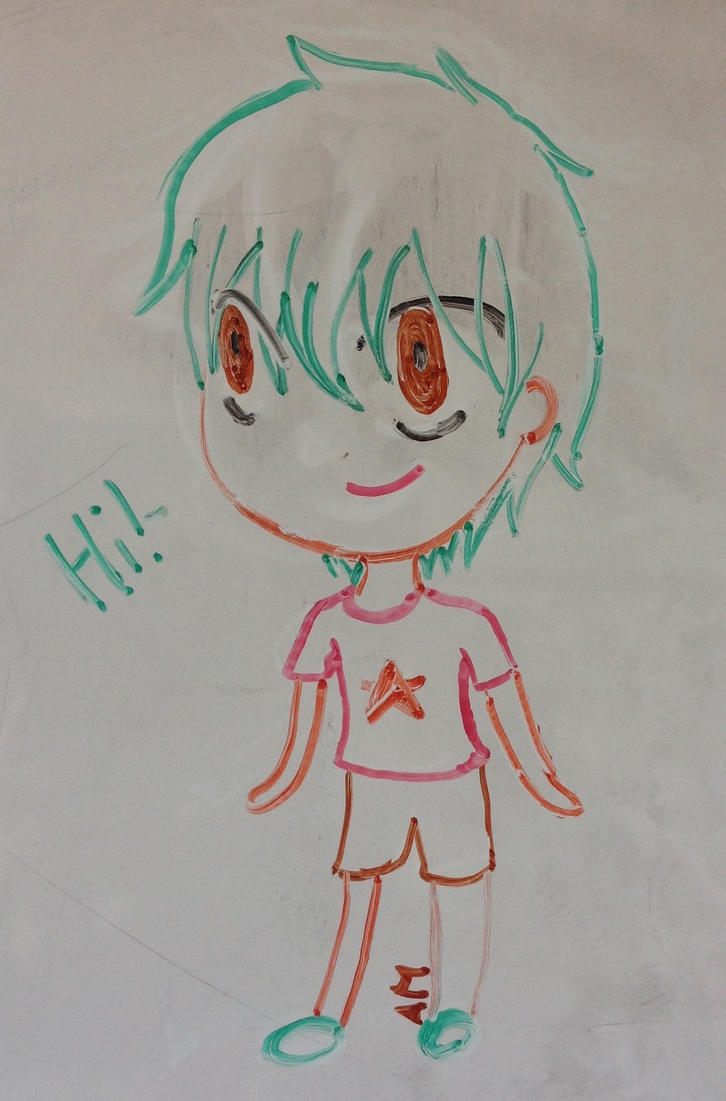 Whiteboard Chibi by 8Imagination8