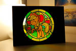 Applejack Stained Glass on my Desk