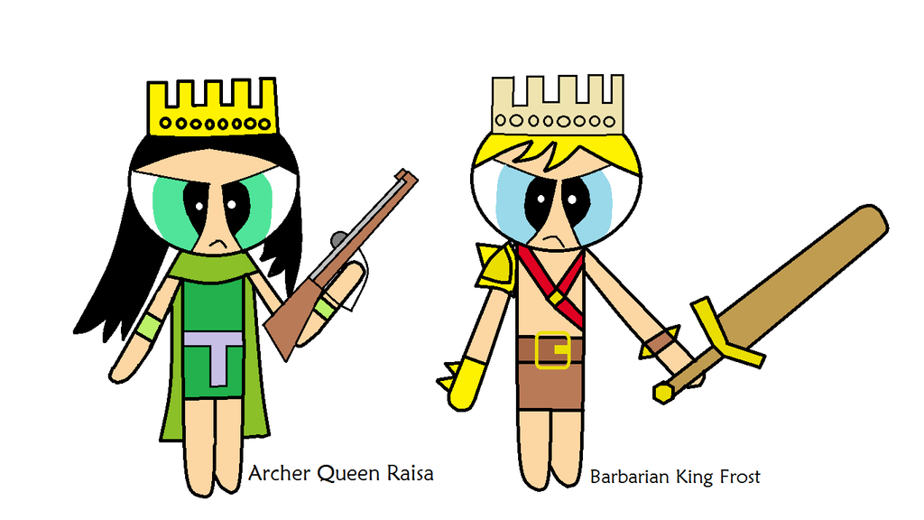Archer Queen Raisa and Barbarian King Frost by Oscargreget ...