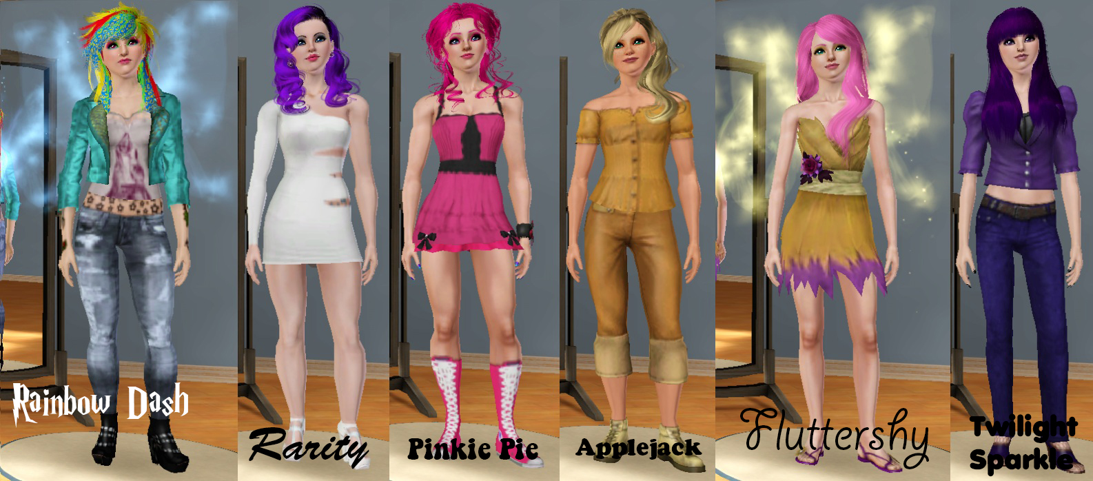 My Little Pony - Sims 3 Version by Gothicgalx
