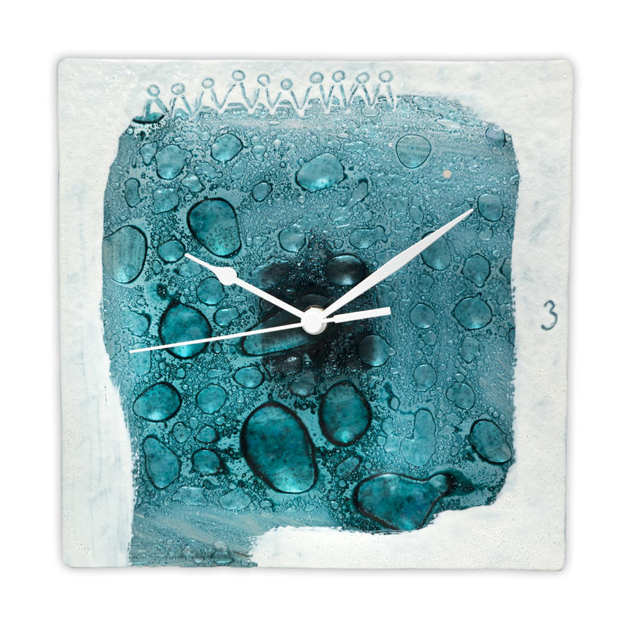 Painted and fused glass wall clocks by radovanrajic on for Fused glass wall clocks