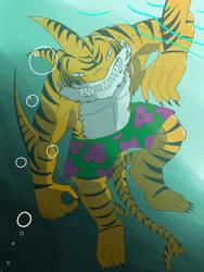 Tiger Shark under water by ImpelUniversalHero