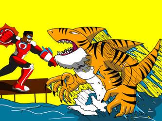 The Brute Vs Tiger Shark by ImpelUniversalHero