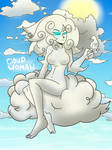 Cloud Woman in the Sky by ImpelUniversalHero