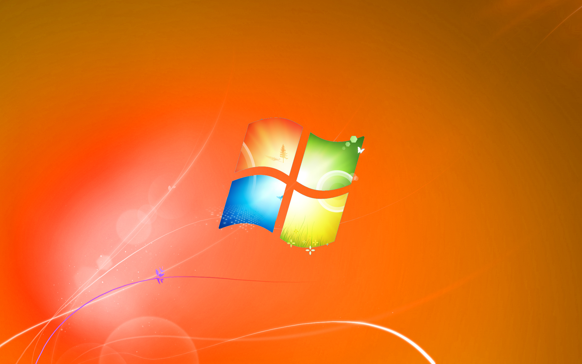 windows 7 default wallpaper orange version by dominichulme
