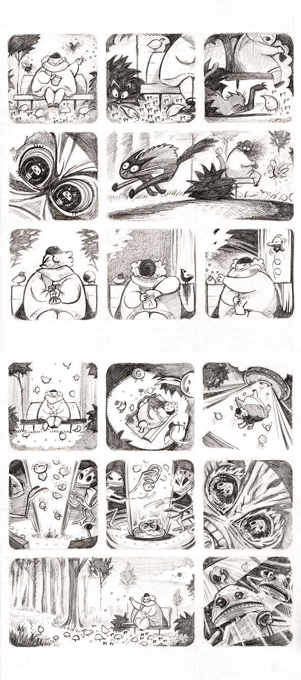 Pigeons: a short comic by veyn
