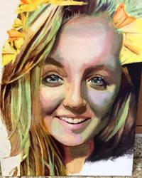 Kale - 20x14 acrylic on canvas
