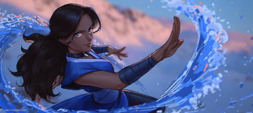 Katara's morning waterbending flow by Caro-Oliveira