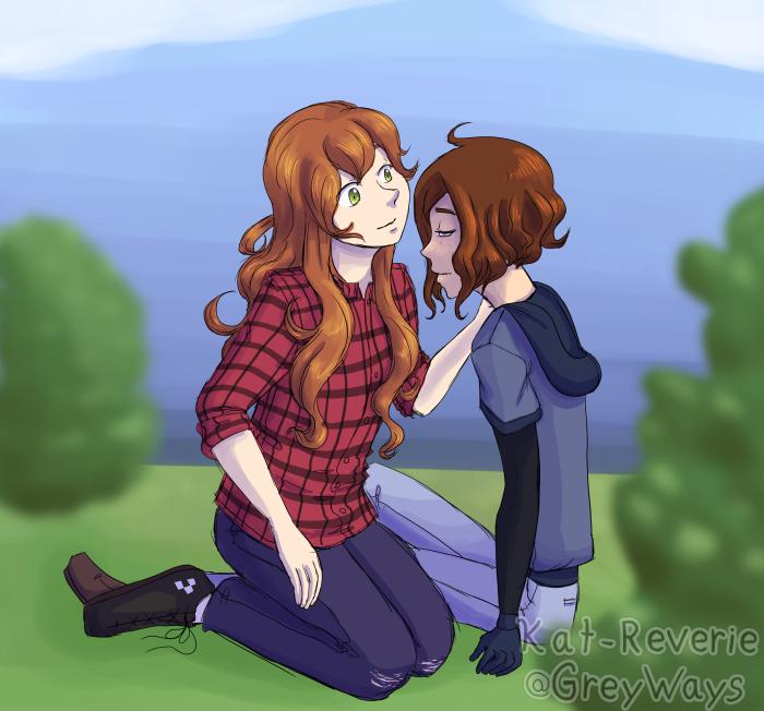 Evvie and Moth by kat-reverie