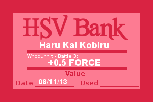 Bank Note - Haru, Who Dunnit Battle 3 by Wolffie12