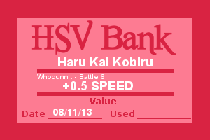 Bank Note - Haru, Who Dunnit Battle 6 by Wolffie12