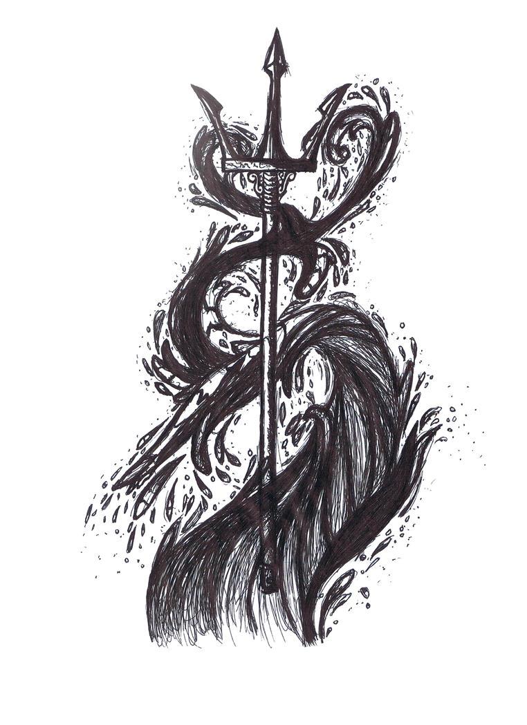 Poseidon's trident by AshezInSky on DeviantArt