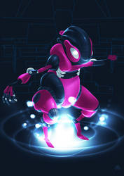 KILLER ROBOT RODENT IN PINK