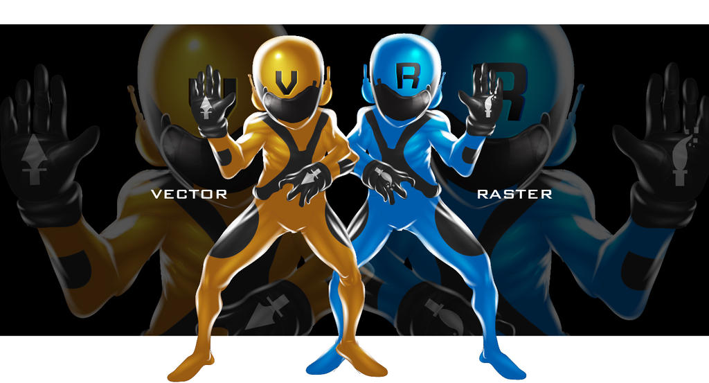 VECTOR and RASTER by HumanNature84