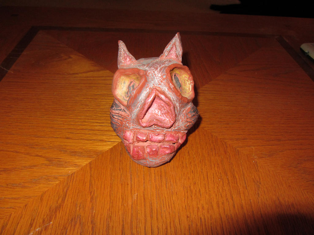 Day of the Dead Cat Man Skull by Orcanaria