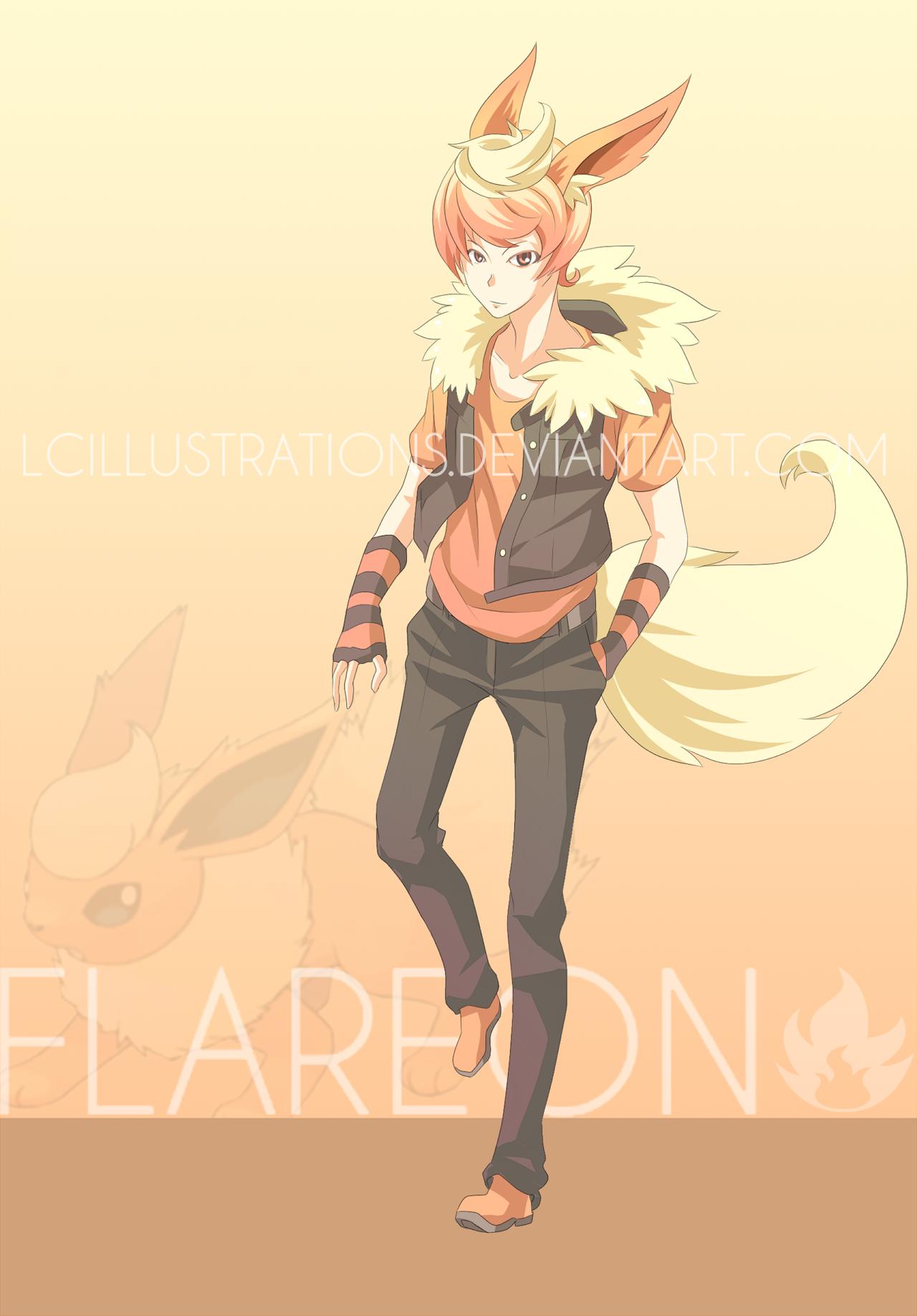 [Auction] Pokemon Gijinka Flareon (CLOSED) by ...