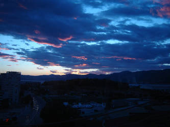 Blue-red clouds by SoundOfVision