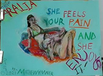 Tigress in Teal by MathesVamer