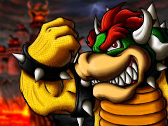 Speedpaint Bowser by DemiuM666