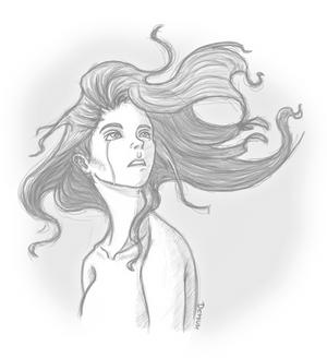 Sad Girl Sketch