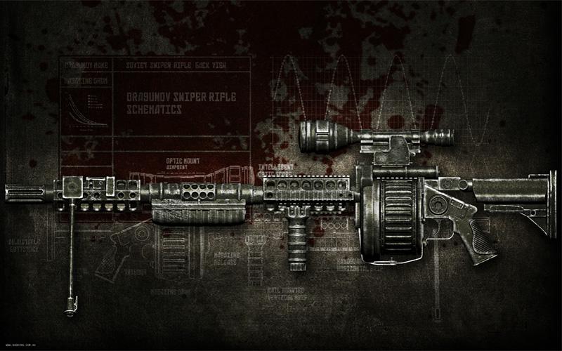Dragunov Sniper Rifle Wallpaper Dragunov Svd 9600 Sniper Rifle